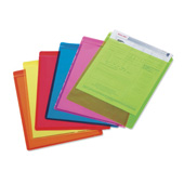 Fluorescent Green Ultra-Bright Vinyl Envelope, Vertical (50/pk)